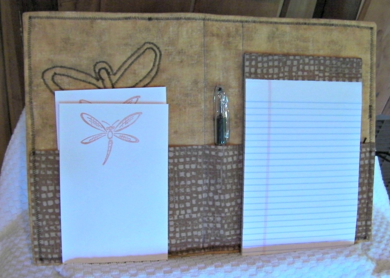 dragonfly notebook holder