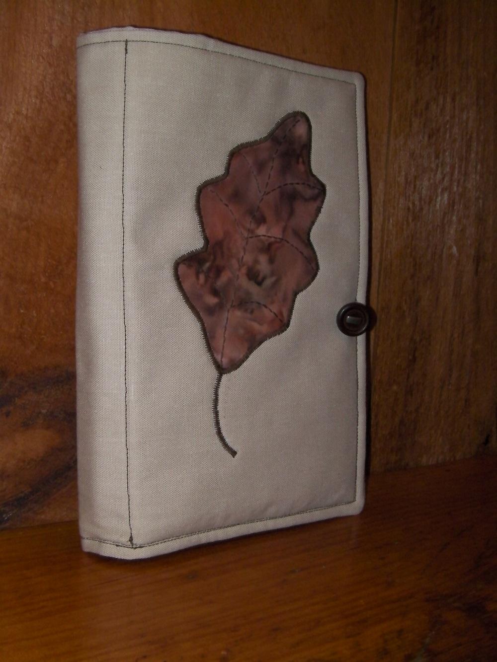 batik leaf notebook holder