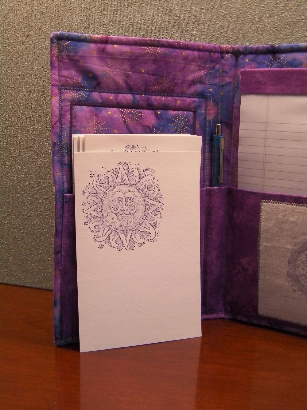 moon journal wrap notecards