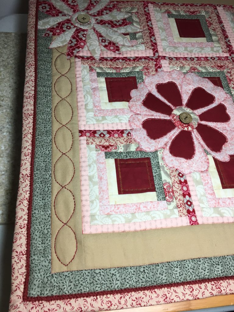 quilted log cabin applique embroidery