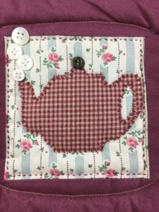 Gram's Quilt Teapot Block