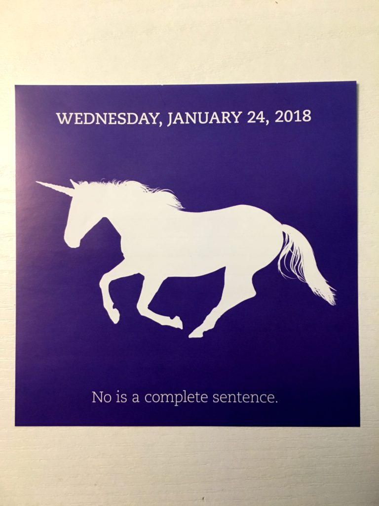 No is a complete sentence Unicorn Advice